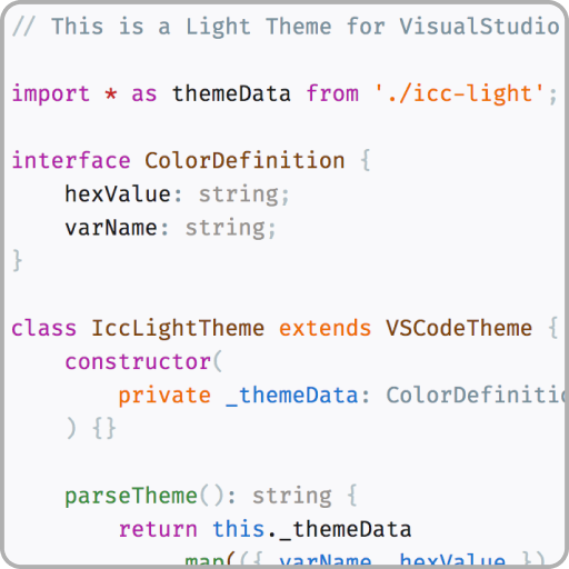 VSCode ICC Theme by icatalina | VSCode Power User